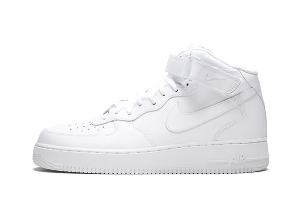 NIKE AIR FORCE 1 HIGH WHITE MEN'S ATHLETIC SHOES 315123 111