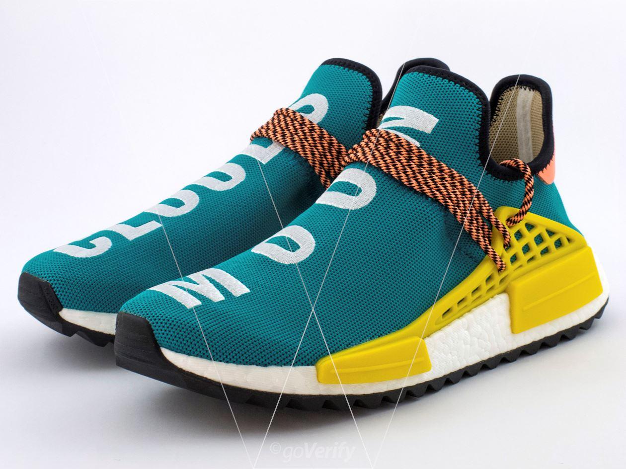 3d131b335c505 How to spot fake Adidas NMD PW Hu TR Sun Glow in 28 steps