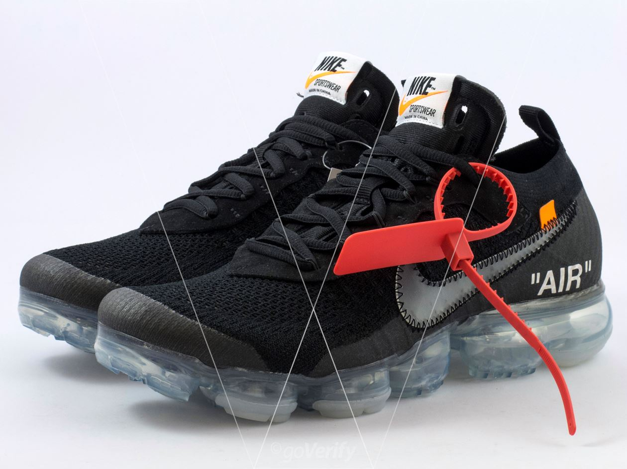 a62446e0bcd How to spot fake Nike Off-White Air Vapormax FK Black in 36 steps