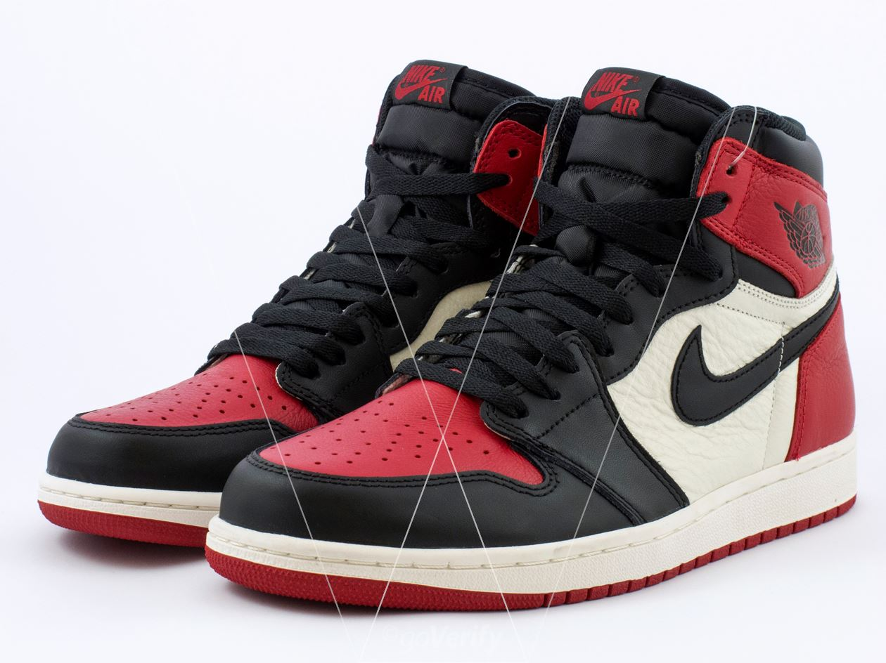 sports shoes dbbcd f71e8 How to spot fake Nike Air Jordan 1 Bred Toe in 31 steps
