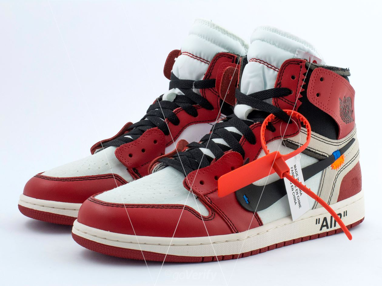 cf509eb4717f How to spot fake Nike Off-White Air Jordan 1 Chicago in 37 steps