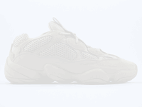 b5c190efe8eee Adidas Yeezy 500 Desert Rat Blush s have mesh on the tongue that glows when  UV (black) light is shone on it.