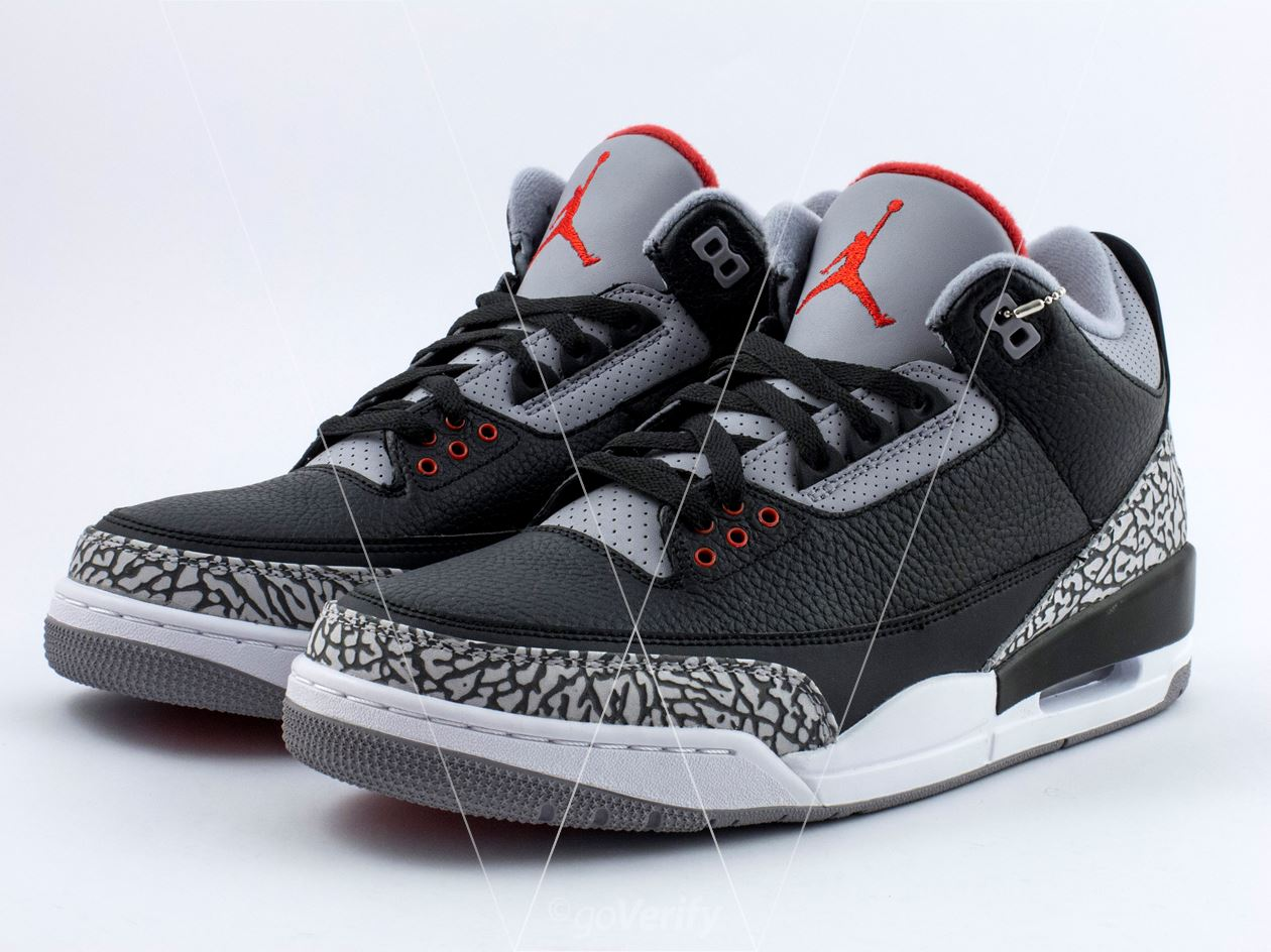 newest collection 2aad7 5e5ef How to spot fake Nike Air Jordan 3 Cement in 30 steps