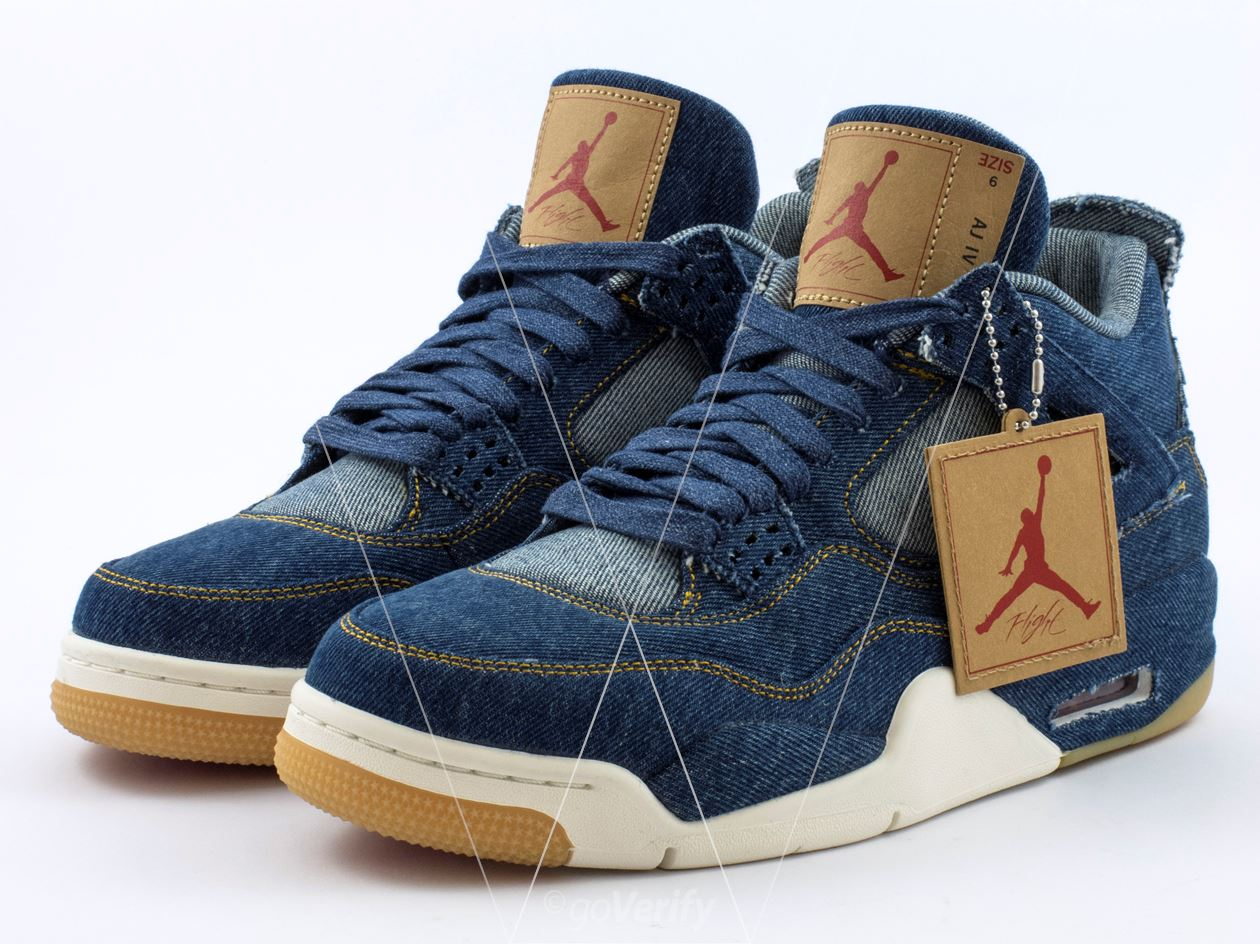 d11e346417f How to spot fake Nike Air Jordan 4 Levis in 36 steps